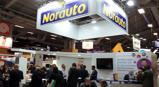 Stand Norauto du salon franchise expo à Paris